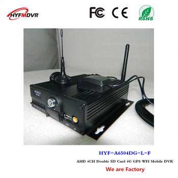 AUTOBUZ MDVR 4G, GPS, WIFI auto video CCTV Monitor gazdă 4CH card SD dvr mobil