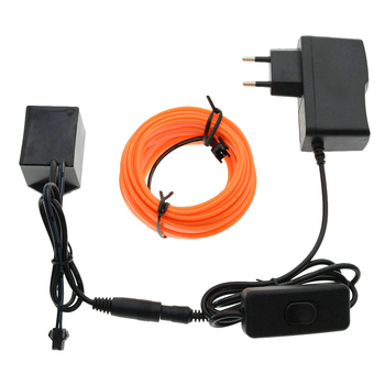 3M/5M/8M/10M 220V Lumina de Neon Dance Party Decor TV Lumini de Neon LED lampă Flexibil EL Wire cu 6mm Cusut Marginea