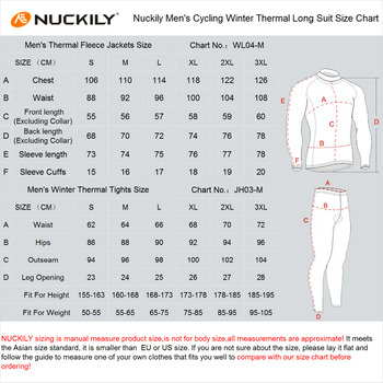 NUCKILY Bărbați Biciclete Jersey Set Impermeabil, Windproof Călărie Iarna Jacheta Thermal Fleece Gel Pad Ciclism Colanti Set NJ604-903-W