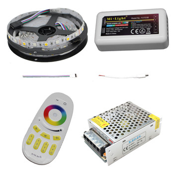 10M 15M 20M RGBW RGBWW Benzi cu Led-uri Lumina DC12V Impermeabil 5050 SMD + mi-lumina Led-uri Controler + Power adapter Kit