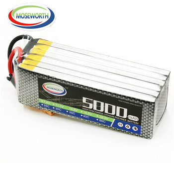 MOSEWORTH 6S RC acumulator LiPo 5000mah 22.2 V 60C Li-ion Batteria de Avion RC RC Model Aircrft Quadrotor Elicopter Drona AKKU