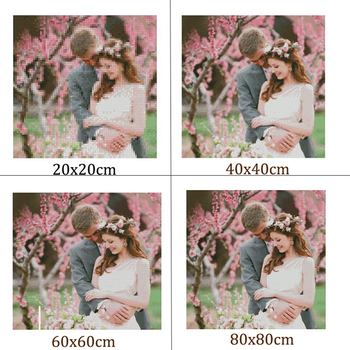 DIADIY DIY Diamant Broderie Foto personalizate 5D personalizat Privat Diamant Pictura Cross Stitch 3D Diamond Mozaic Decor