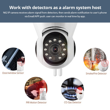 KERUI N62 Rețea Wireless camera HD 720P camera IP WiFi Webcam Home Security Camera de Supraveghere PnP P2P APP Pan Tilt IR Cut