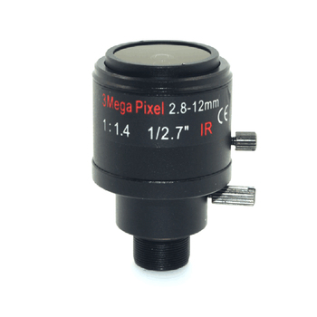 3.0 Megapixel, Iris Fix M12 HD 2.8-12mm cu unghi de vedere de 90~28Degree Varifocal cctv IR Lentile HD,F1.4,Focus Manual, Zoom